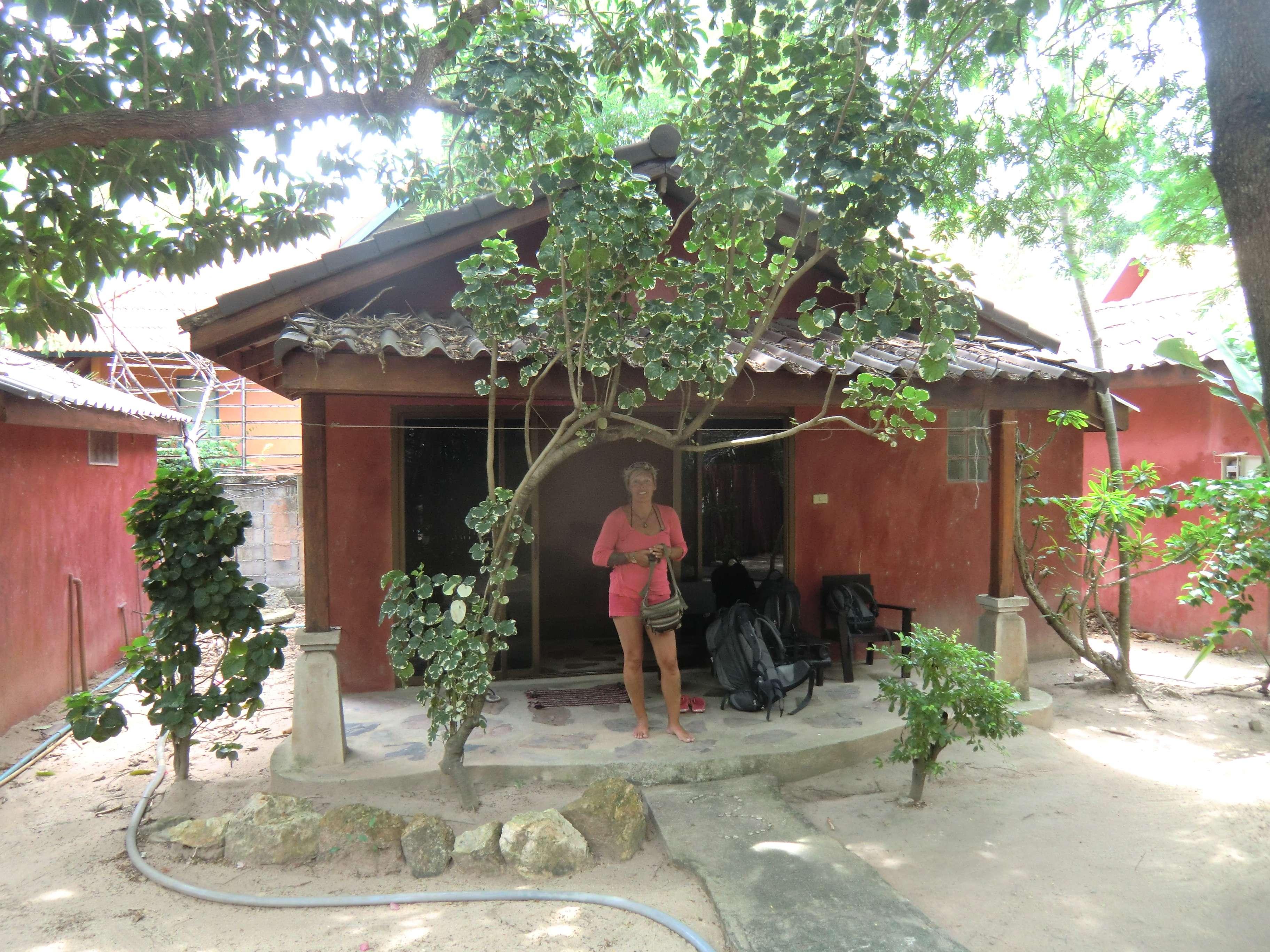 unsere Hütte ( das Bild wo beide drauf waren sieht doof aus ;-) )