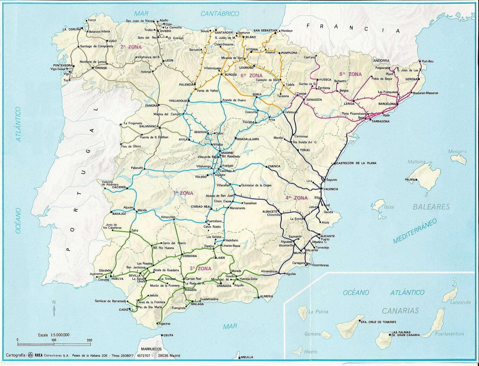 Mapa Ferroviario De España.Como Era La Red Ferroviaria Espanola En 1860 1880 1941